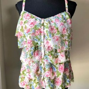 Abercrombie & Fitch Floral Flowy Tank Blouse